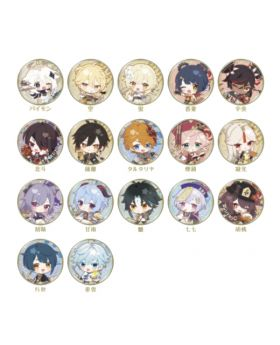Genshin Impact Sweets Paradise Liyue Collab Goods Chibi Characters Can Badges BLIND PACKS