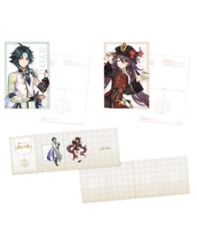 Genshin Impact Sweets Paradise Liyue Collab Goods Xiao and Hutao Postcard Set