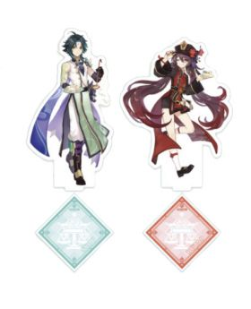 Genshin Impact Sweets Paradise Liyue Collab Goods Xiao and Hutao Acrylic Stands
