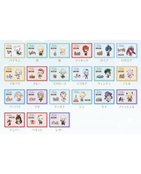 Genshin Impact Sweets Paradise Collab Goods Chibi Characters Sticker Pack of 3 BLIND PACKS