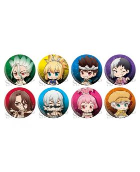 Dr. STONE Dash Store Limited Can Badge Collection Chibi Ver. SET