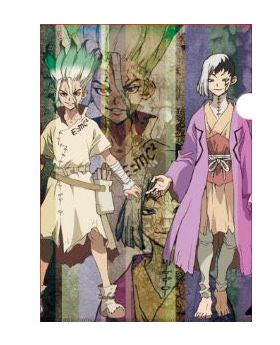 Dr. STONE SCRAP Escape Room Event Collaboration Goods Mysterious Clear File Senku and Gen