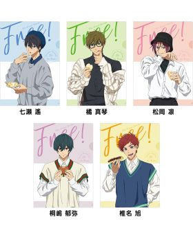 Free! the Final Stroke Movie Goods Lawson Clear File Sweets Ver.