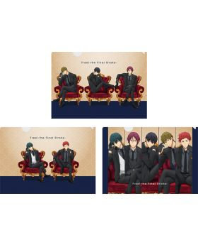 Free! the Final Stroke Movie Goods Lawson Clear File Suits Ver. SET