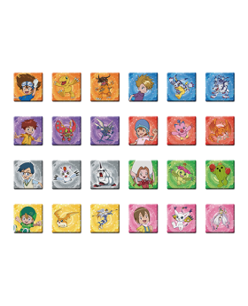 Digimon Adventure Limited Base Goods Square Can Badge BLIND PACKS