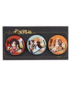 Heaven Official's Blessing Nan Man She Official Goods Can Badge Set