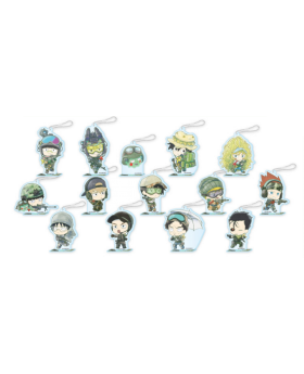 Mob Psycho 100 II x Cafe Honpo Collaboration Military Theme Goods Chibi Acrylic Keychains BLIND PACKS