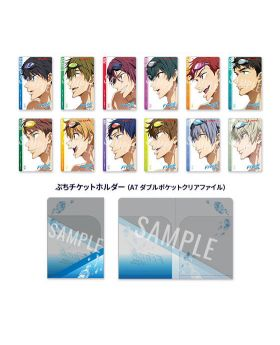 Free! The Final Stroke Part 1 Character Design Movie Ticket and Ticket Holder Case
