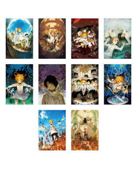 The Promised Neverland Exhibition Goods Postcard Set with Bin Case